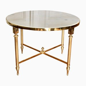 Neo-Classical French Brass and Marble Coffee Table, 1970s