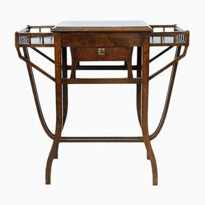 Italian Solid Walnut Dressing Table, 1920s
