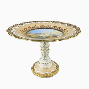 Antique Hand Painted Cake Stand