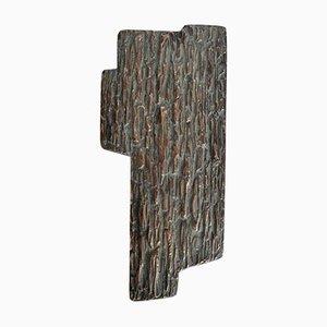 Brutalistischer Türgriff aus Bronze, 1970er
