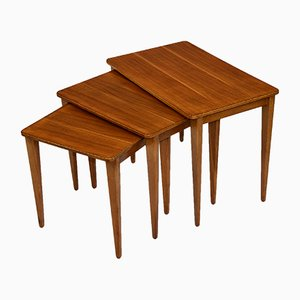 Walnut Nesting Tables from Gordon Russell, 1950s