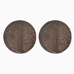 Vintage Türgriffe aus Bronze, 1970er, 2er Set