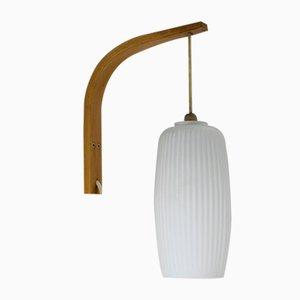 Lámpara de pared danesa Mid-Century, años 60