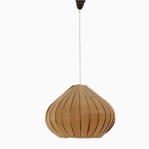 Mid-Century Danish Veneer Pendant Lamp, 1960s