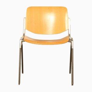 Chaise de Salle à Manger Modèle DSC 106 en Aluminium, Hêtre et Formica par Giancarlo Piretti, 1960s