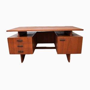 Mid-Century Schreibtisch aus Teakfurnier, 1950er
