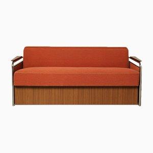 Mid-Century Sofa mit Stoffbezug, 1950er