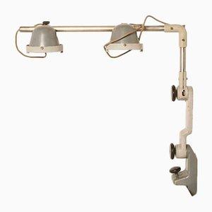 Lámpara de mesa vintage de acero, años 70