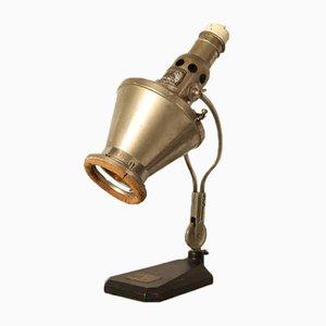 Lámpara de mesa vintage de acero de Hanau, años 30