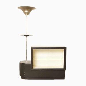 Französischer Art Déco Vintage Glasschrank von Fabrique Meubles Legros Marcinelle, 1920er