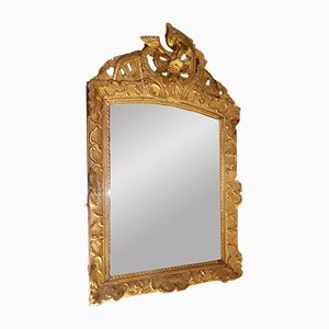 Regency French Mirror with Floral Decor