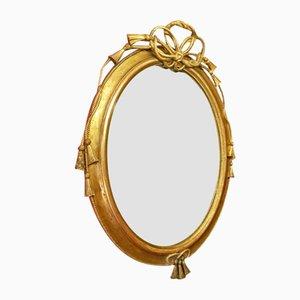 Französischer Louis XVI Spiegel mit vergoldetem Rahmen