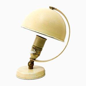 Lámpara de mesa modelo 15290 de latón y acero de Harald Notini para Böhlmarks, años 30