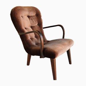 Dänischer Sessel mit Gestell aus Holz, 1940er