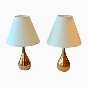 Model K11-21 Brass and Cast Iron Table Lamps by Mauri Almari for Idman, 1950s, Set of 2