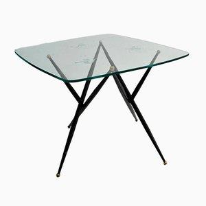 Tavolino da caffè in metallo inciso e metallo, Italia, anni '50