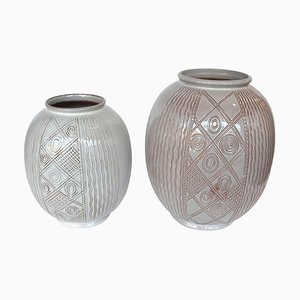 Dutch Vintage Ceramic Vases by Wim Visser for Sphinx, 1950s, Set of 2
