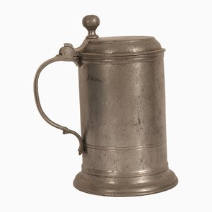 Antique German Tin Beer Mug, 1793