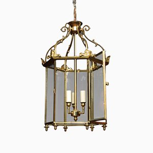 Lanterne de Plafond Antique en Bronze