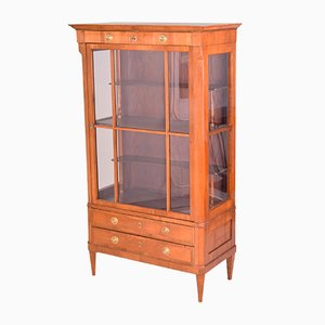 Antique Biedermeier Cherry Display Cabinet
