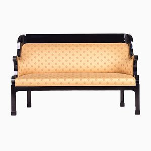 Antique Black Lacquered Sofa