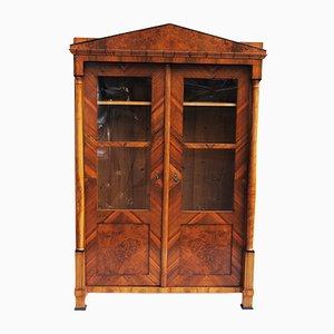 Vetrina antica in vetro e legno