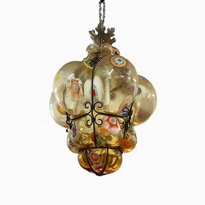 Lámpara de techo italiana Mid-Century de cristal de Murano, años 60