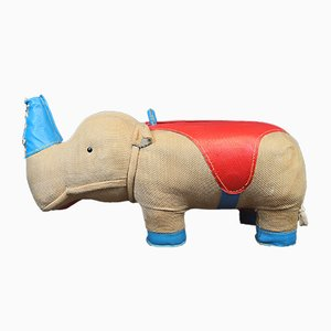 Deutsches Vintage Spielzeug-Nashorn von Renate Müller für Sonneberg, 1968