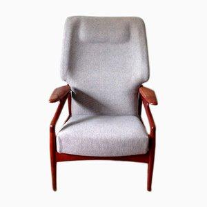 Verstellbarer Sessel mit Gestell aus Teak von John Boné für Advance Design, 1960er