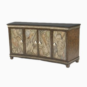 Art Deco Style Lacquer Sideboard from Lam Lee Group, 1980s