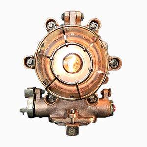 Industrielle Tischlampe aus Messing & Kupfer von Morio Denki, 1996