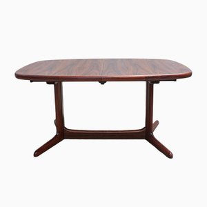 Table de Salle à Manger Ovale Mid-Century en Palissandre de Rasmus, Danemark, 1960s