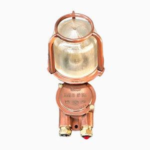 Industrielle deutsche Tischlampe aus Messing & Kupfer von EOW, 1970er
