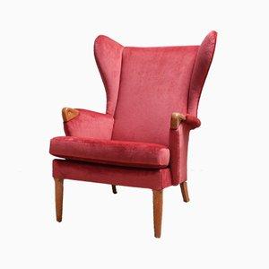 Velvet & Oak Wingback Armchair from Parker Knoll, 1960s