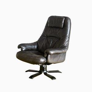 Schwarzer Vintage Sessel, 1970er