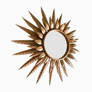 Illuminated Sun Mirror by Ferro Arte, 1950s