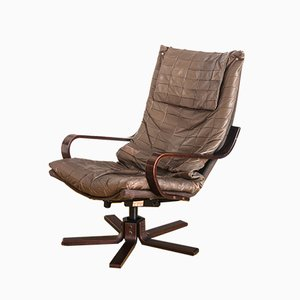 Scandinavian Modern Leather Armchair from Kebe Mobelfabrik, 1970s