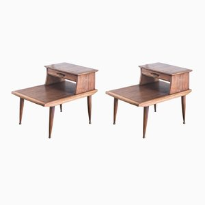 Tables de Chevet Scandinaves en Teck, Danemark, 1960s, Set de 2