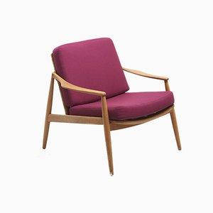 Deutscher Sessel mit Gestell aus Eschenholz von Hartmut Lohmeyer für Wilkhahn, 1960er