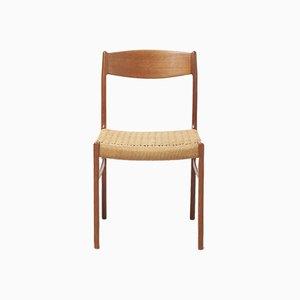 Dänische Mid-Century Esszimmerstühle aus Teak von Glyngore Stolefabrik, 1960er, 4er Set