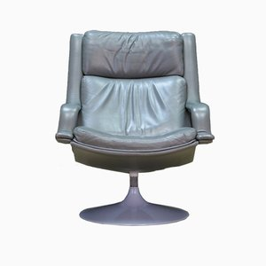 Danish Model F140 Leather Lounge Chair by Geoffrey Harcourt for Artifort, 1960s