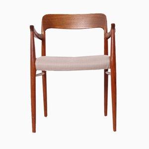 Moderner Armlehnstuhl aus Teak im skandinavischen Design von Niels Otto Møller für J.L. Møllers, 1960er