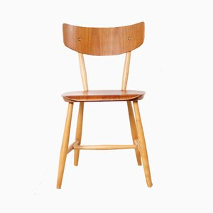 Swedish Beech Side Chair by Ilmari Tapiovaara, 1950s