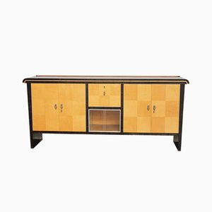 Mid-Century Italian Ebony and Maple Sideboard, 1940s