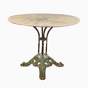Antiker französischer Gartentisch aus Gusseisen