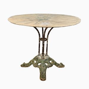 Antique French Cast Iron Garden Table
