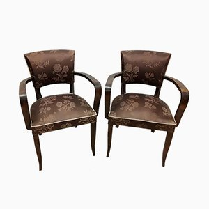 Art Deco Bridge Armchairs, 1940s, Set of 2