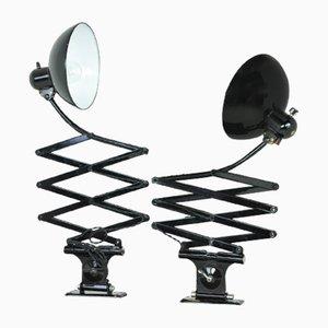 Lámparas de acordeón de Christian Dell para Kaiser Idell, años 40. Juego de 2