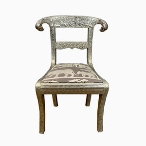 Chaise d'Appoint Anglo-Indienne Dowry Vintage, 1970s