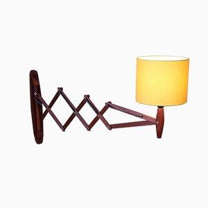 Mid-Century Danish Teak Scissor Lamp, 1960s